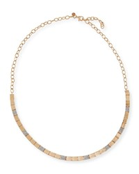 Kismet By Milka 14K Rose Gold Square Linked Collar Necklace With Diamonds