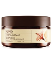 Ahava Hibiscus And Fig Mineral Botanic Rich Body Butter 8 Oz