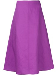 Sofie D'hoore Flared Skirt Pink And Purple