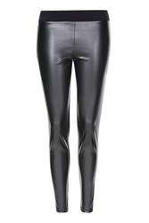 Topshop Pu Ponte Leggings Black
