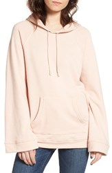Treasure And Bond Women's Wide Cuff Hoodie Pink Hero