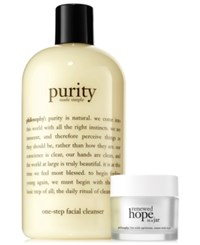 Philosophy 2 Pc. Cleanse And Glow Skincare Set No Color