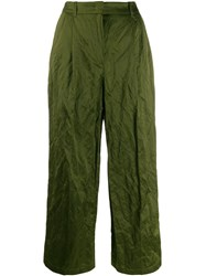 Odeeh Creased Effect Trousers Green