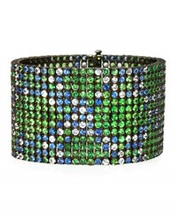 Alexander Laut Blue And White Sapphire Bracelet With Tsavorite