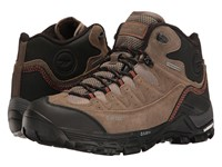 Hi Tec Ox Belmont Mid I Waterproof Dark Taupe Warm Grey Red Rock Men's Shoes Brown