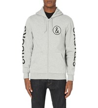 Crooks And Castles Covert Logo Jersey Hoody Heather Grey