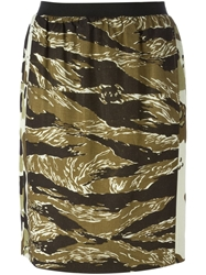 Golden Goose Deluxe Brand 'Swift' Camouflage Skirt Green