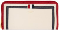 Thom Browne Tricolor Long Zip Around Wallet