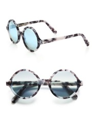 Cutler And Gross 52Mm Marbleized Round Sunglasses
