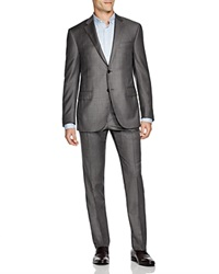 Corneliani Sharkskin Regular Fit Suit Grey