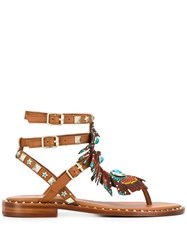 Ash Pandora Beaded Sandals Brown