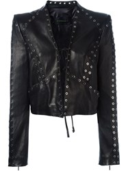 Plein Sud Jeans Plein Sud Eyelet Leather Jacket