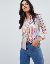 Sugarhill Boutique Candy Stripe Shirt Multi