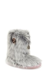 Women's Bedroom Athletics 'Cole' Faux Fur Slipper Boot White Wolf Faux Fur