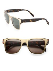 Alexander Mcqueen 53Mm Square Sunglasses Gold