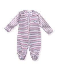 Kissy Kissy Pup Paw Trol Striped Footie Pajamas Blue