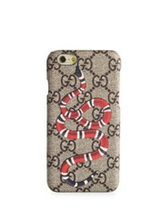 Gucci Snake Printed Iphone 6 Case Beige Multicolor