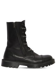 Vetements Spiked Army Boots Black