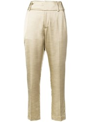 Dondup Tailored Cropped Trousers Neutrals