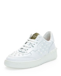 Rock Be Studded Low Top Sneaker White Valentino