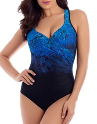 Miraclesuit Ombre Print Bodysuit Teal Green