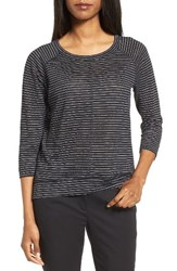 Nordstrom Women's Collection Stripe Linen Knit Top