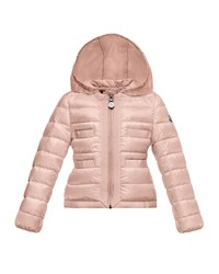 Moncler Alose Hooded Lightweight Down Puffer Coat Light Pink