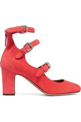 Tabitha Simmons Ginger Suede Pumps Red