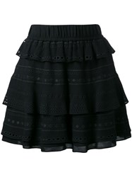 Iro Layered Ruffled Skirt Black