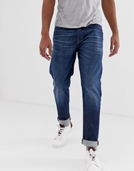 Selected Homme Tapered Jeans In Rinsed Blue Denim
