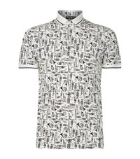 Dolce And Gabbana Jazz Print Polo Shirt Male G8gw3tfs7te1 Hw607 Trombe Fdo.Bianc