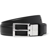 Gucci 3Cm Black And Brown Reversible Leather Belt