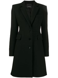 Pinko Slim Fit Tailored Coat Black