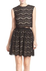 Women's Marc New York Lace Two Piece Dress Black