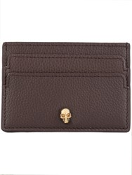 Alexander Mcqueen Skull Card Holder Brown