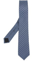 Gucci Geometric Pattern Tie Blue
