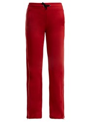 Red Valentino Striped Drawstring Track Pants Red