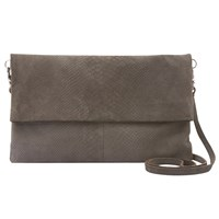 Mint Velvet Smoke Lily Leather Clutch Grey