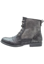 Mustang Laceup Boots Stein Dark Grey