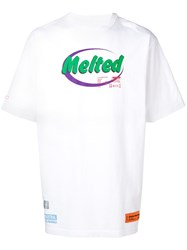 Heron Preston Melted Print T Shirt White