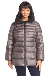 Plus Size Women's Marc New York 'Eva' Sweater Weight Down Jacket Anthracite