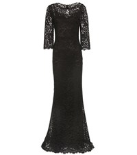 Dolce And Gabbana Lace Gown Black