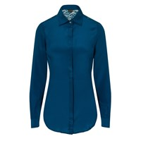 Sophie Cameron Davies Teal Fitted Silk Shirt Green