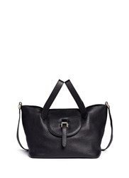 Meli Melo 'Thela' Medium Pebbled Leather Trapeze Tote Black