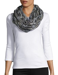 Steve Madden Open Knit Loop Scarf Multi Colored