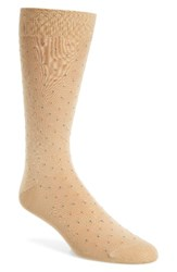 Pantherella Men's 'Regent' Egyptian Cotton Blend Socks Light Khaki