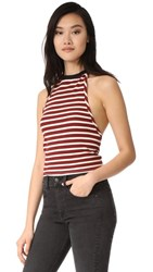 Free People Rochford Halter Top Red