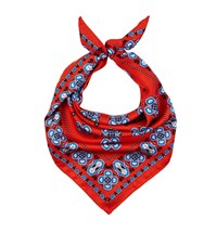 Sandro Silk Print Scarf Red