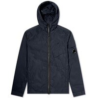 C.P. Company Arm Lens Hooded Zip Shirt Jacket Blue