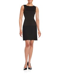 Ivanka Trump Sleeveless Drop Waist Dress Black